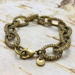 J. Crew rhinestone link bracelet